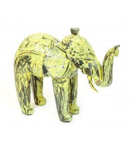 Yellow wooden elephant