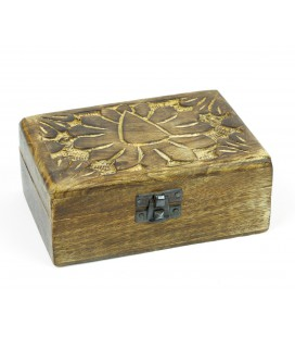 Large cedar box with flower