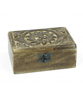 Large cedar box with Om