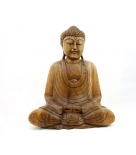 Large meditating Buddha figurine