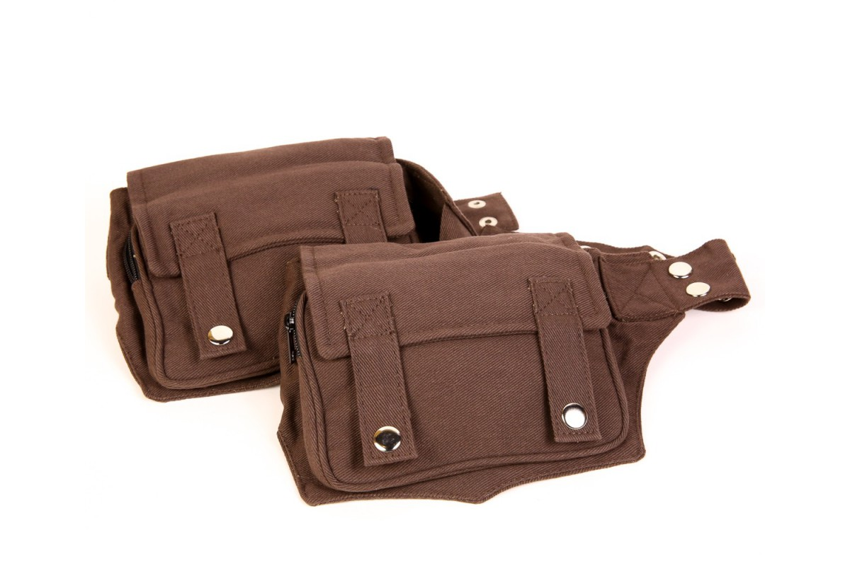 b21793fb67f13 Double cotton waist bag