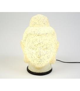 Lámpara cabeza Budha grande blanco
