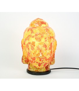 Small yellow red Buddha head lamp