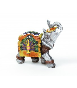 Colorful elephant resins