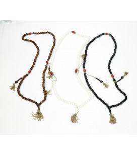Long red stones basic mala necklace