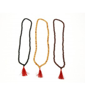 Wood basic mala necklace