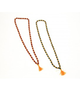 Colorful sandalwood mala necklace