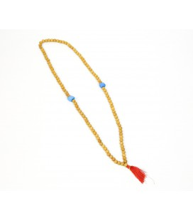 Blue stones sandalwood mala necklace