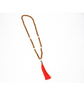 Buddha head seed mala necklace