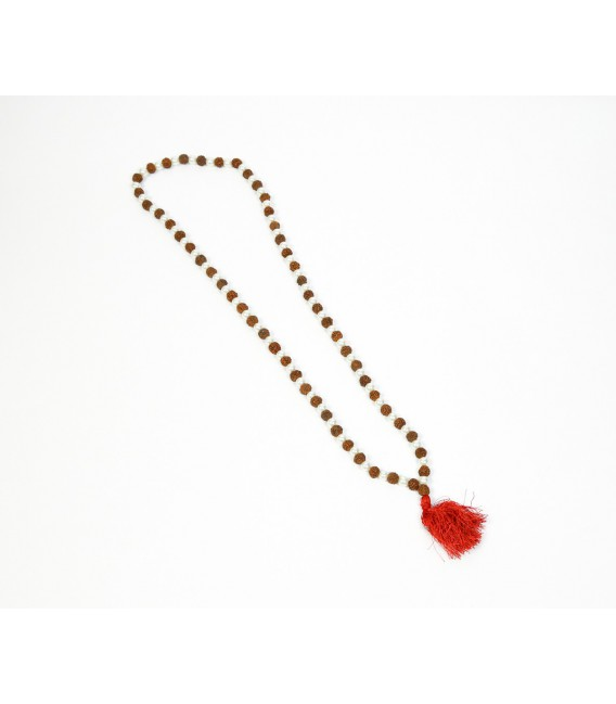 Pearl seed mala necklace