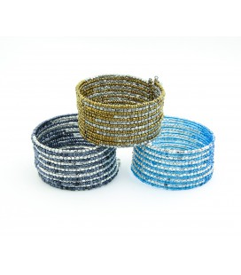 3 colors straight ball bracelet