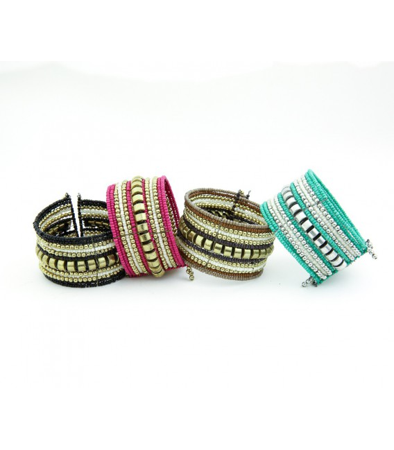 picture of braiding friendship wheel id bracelet large bracelets