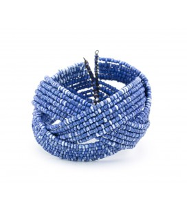 Various blues spheres bracelet