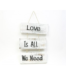 White Love is all we need boards poster