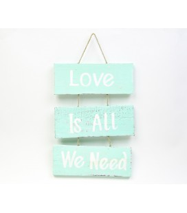 Mint Love is all we need boards poster