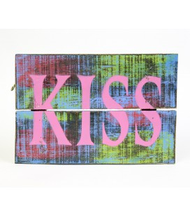 Multicolored Kiss poster