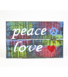 Multicolored Peace Love poster