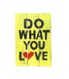 Yellow Do what you love poster