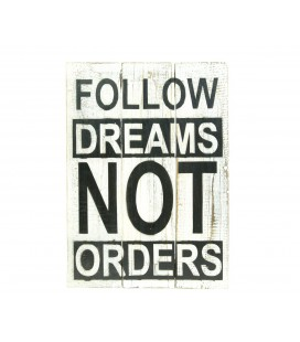 Cartel Follow Dreams Blanco