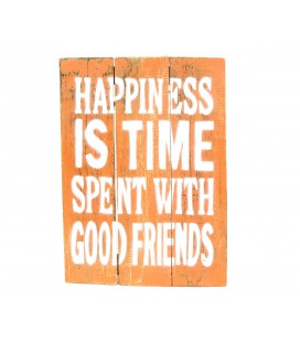 Cartel Happiness naranja