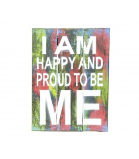 Multicolored I'm happy poster
