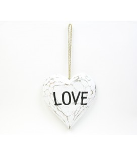 White Love heart poster