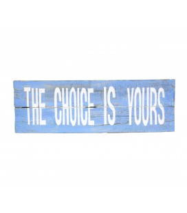 Cartel Choice azul