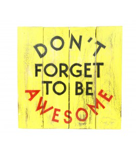 Yellow Don't forget poster