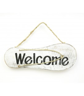 White Welcome poster