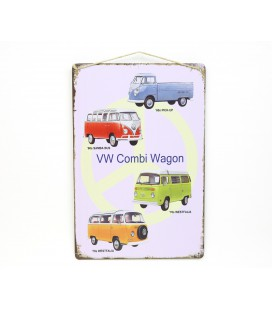Placa VW Combi Wagon