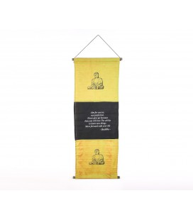 Large Yellow Buddha flag