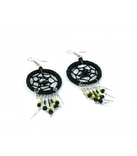 Sky black dreamcatcher short earrings without feathers