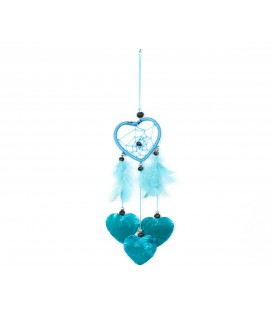 Sky blue heart shaped dreamcatcher with nacre