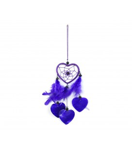 Lilac heart shaped dreamcatcher with nacre