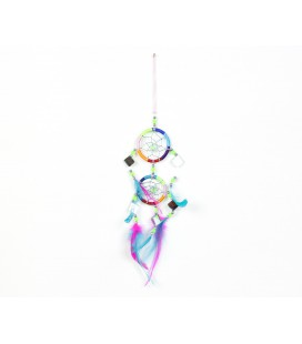 Multicoloured double dreamcatcher with mirror