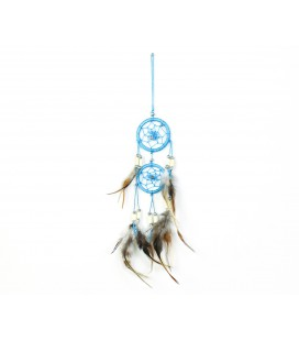 Big double sky blue dreamcatcher