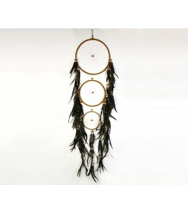 Brown triple dreamcatcher