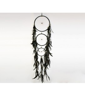 Black triple dreamcatcher