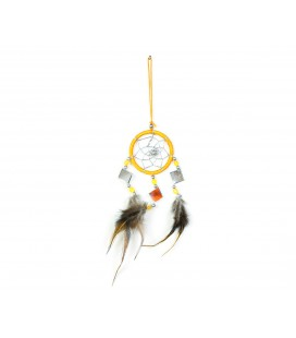 Basic yellow dreamcatcher with mirror