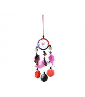 Multicolored dreamcatcher with mirror and circles