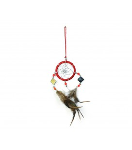 Basic red dreamcatcher with mirror