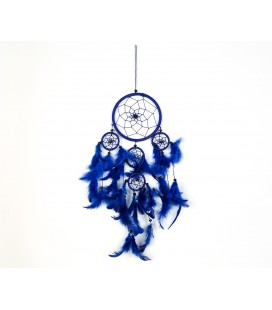 Simple dark blue dreamcatcher