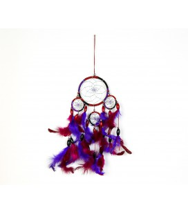 Simple garnet and lilac dreamcatcher