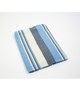 Sky blue striped Kerala quilt