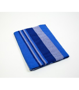 Electric blue striped Kerala quilt