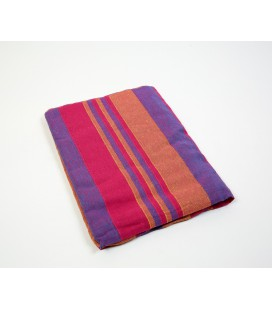 Fuchsia striped Kerala quilt
