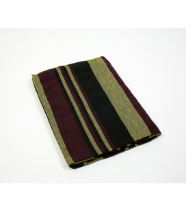 Garnet and black striped Kerala quilt