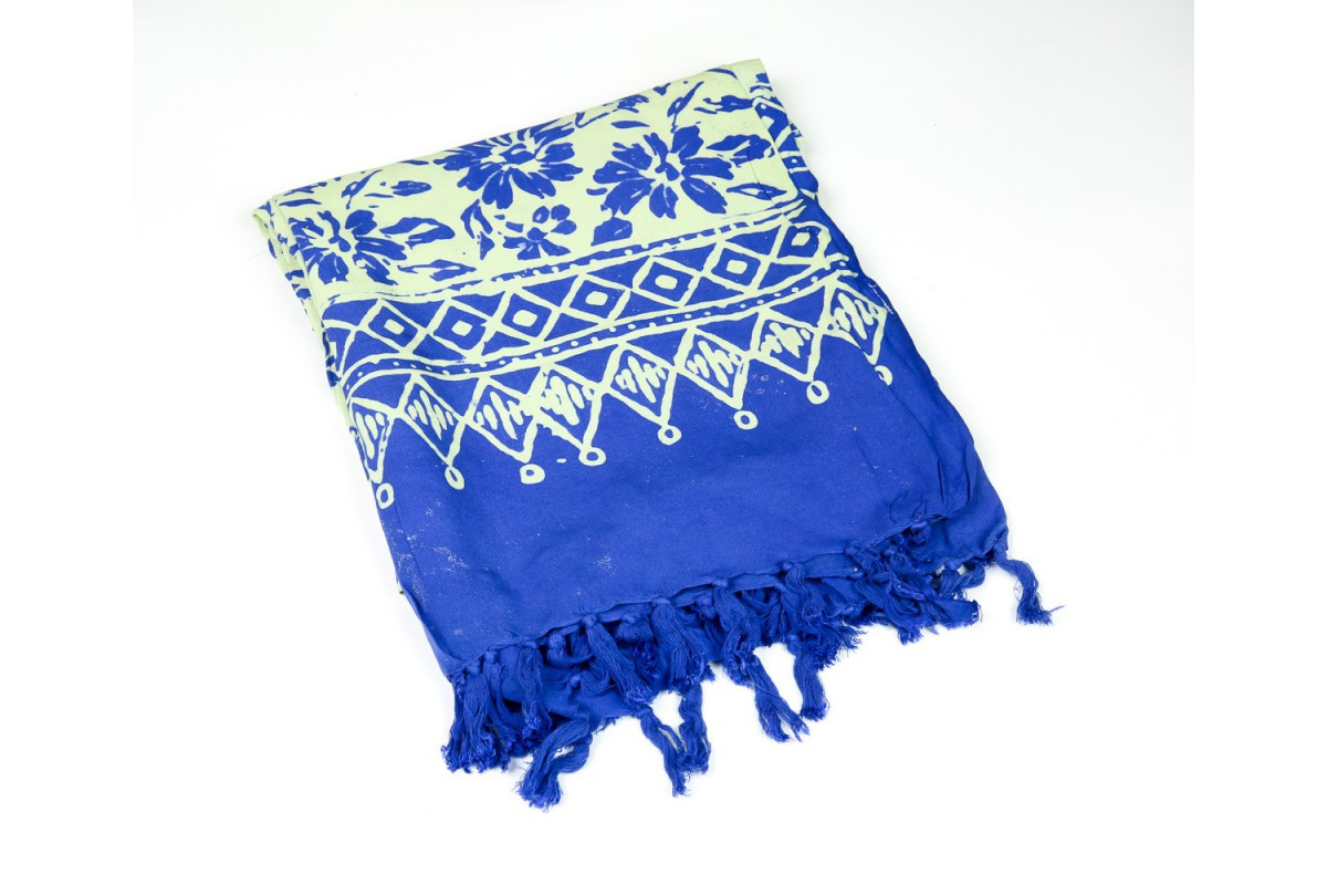 Beach wrap hawaiian flower blue izmirmasajfo