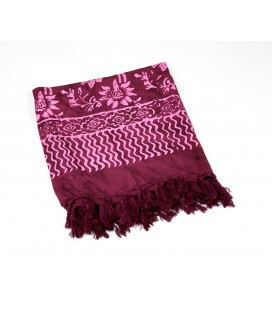 Beach wrap Hawaiian flower fuchsia
