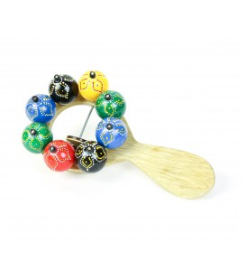 Colorful seeds rattle instrument